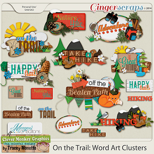On the Trail: Word Art Clusters  by Clever Monkey Graphics & Meagans Creations
