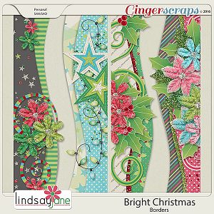 Bright Christmas Borders by Lindsay Jane