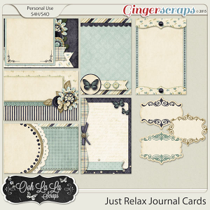 Just Relax Journal Cards