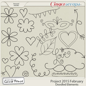 Project 2015 February - Doodled Elements