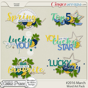 #2016 March - Word Art Pack