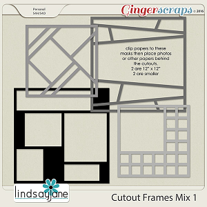 Cutout Frames Mix 1 by Lindsay Jane