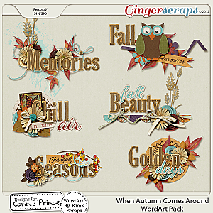 When Autumn Comes Around -  WordArt