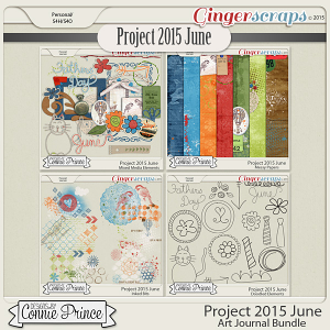 Project 2015 June - Art Journal Bundle