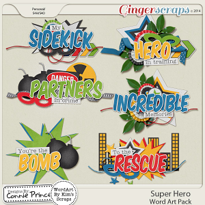 Super Hero - Word Art