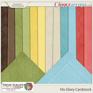 His Glory Cardstock by Trixie Scraps Designs