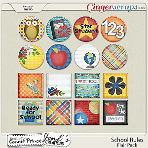 School Rules - Flair Pack