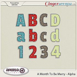 A Month To Be Merry Alpha by Aprilisa Designs