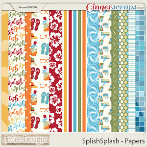 Splish Splash Patterned Papers