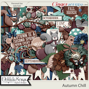 Autumn Chill Digital Scrapbooking Kit