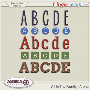All In The Family - Alpha by Aprilisa Designs