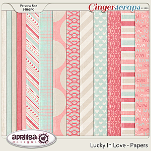Lucky In Love - Papers by Aprilisa Designs