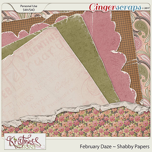 February Daze Shabby Papers
