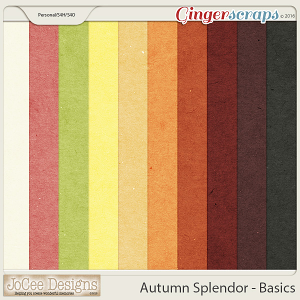 Autumn Splendor Basic Papers by JoCee Designs