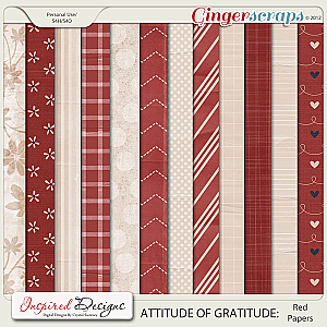 ATTITUDE OF GRATITUDE: Paper Pack (Red and Cream)