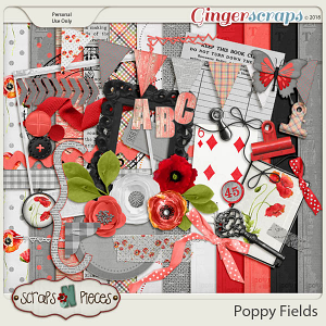 Poppy Fields kit by Scraps N Pieces