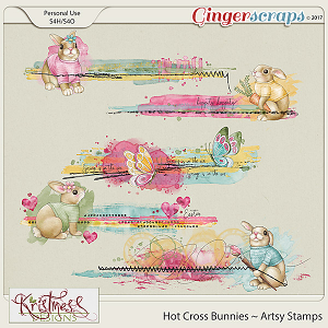Hot Cross Bunnies Artsy Stamps