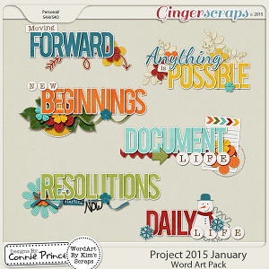 Project 2015 January - WordArt Pack