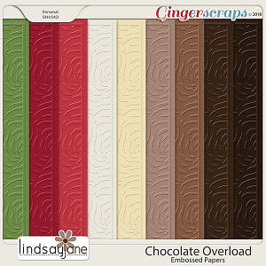 Chocolate Overload Embossed Papers by Lindsay Jane