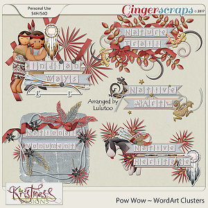 Pow Wow WordArt Clusters