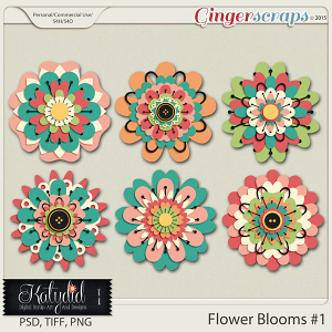 Stacked Blooms Layered Templates Pack No 1