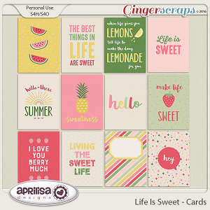 Life Is Sweet - Cards by Aprilisa Designs