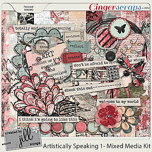 Artistically Speaking 1 - Mixed Media Kit by Created by Jill
