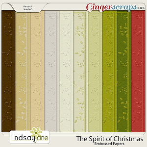 The Spirit of Christmas Embossed Papers by Lindsay Jane