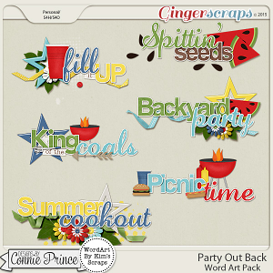 Party Out Back - WordArt Pack