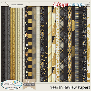 Year in Review Paper Pack by JoCee Designs and Laurie's' Scraps and Designs