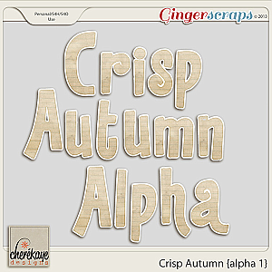 Crisp Autumn Alpha 1 by Chere Kaye Designs