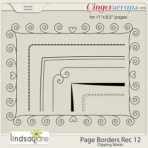 Page Borders Rec 12 by Lindsay Jane