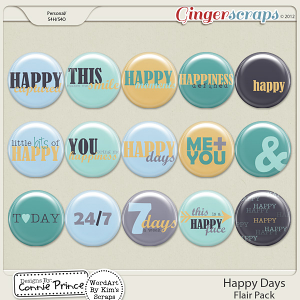 Retiring Soon - Happy Days - Flair Pack