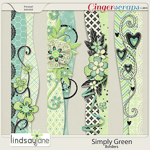 Simply Green Borders by Lindsay Jane