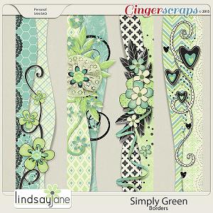 Simply Green Borders by Lindsay Jane