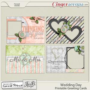Wedding Day - Printable Greeting Cards