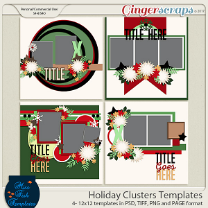 Holiday Clusters Templates by Miss Fish