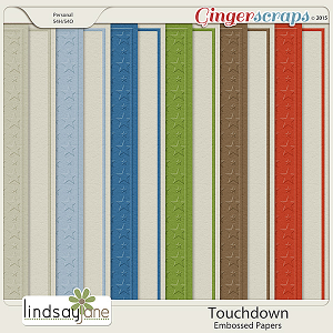 Touchdown Embossed Papers by Lindsay Jane