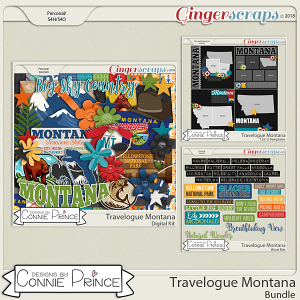 Travelogue Montana - Bundle Pack by Connie Prince