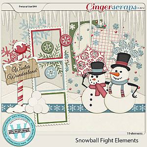 Snowball Fight Element Pack