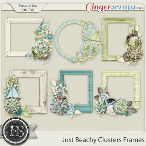 Just Beachy Cluster Frames