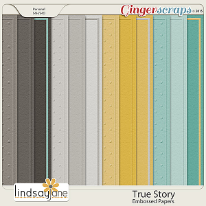 True Story Embossed Papers by Lindsay Jane
