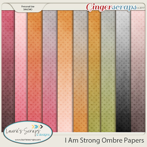 I am Strong Ombre Papers