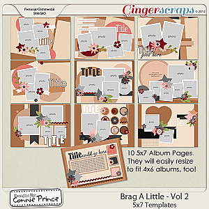 Retiring Soon - Brag A Little - Vol 2: 5x7 BragBook Templates (CU Ok)