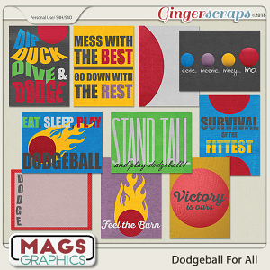 Dodgeball For All JOURNAL CARDS by MagsGraphics