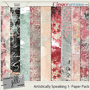 Artistically Speaking 1 - Mixed Media Papers by Created by Jill