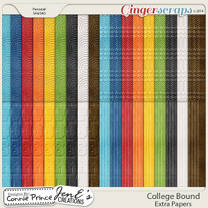 College Bound - Embossed Papers