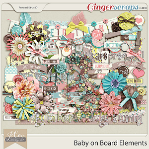 Baby on Board Elements by JoCee Designs