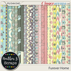 Furever Home PAPERS by Heather Z Scraps