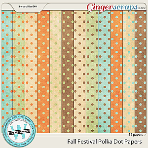 Fall Festival Polka Dot Papers by Kathy Winters Designs